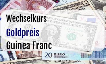 Goldpreis in Guinea Franc