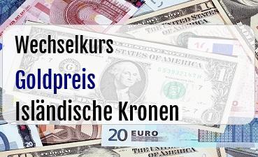 Goldpreis in Isländische Kronen