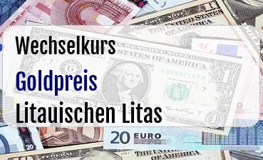 Goldpreis in Litauischen Litas
