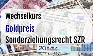Goldpreis in Sonderziehungsrecht SZR