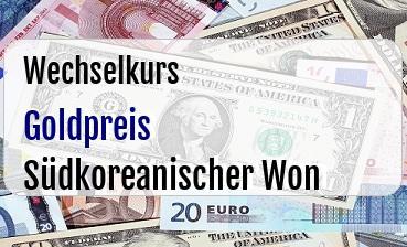 Goldpreis in Südkoreanischer Won