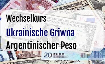 Ukrainische Griwna in Argentinischer Peso