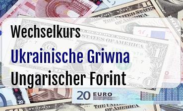 Ukrainische Griwna in Ungarischer Forint
