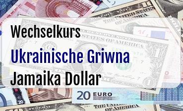 Ukrainische Griwna in Jamaika Dollar