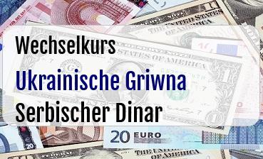 Ukrainische Griwna in Serbischer Dinar