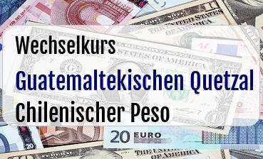 Guatemaltekischen Quetzal in Chilenischer Peso