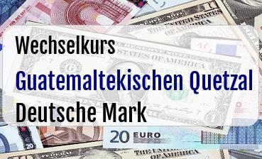 Guatemaltekischen Quetzal in Deutsche Mark