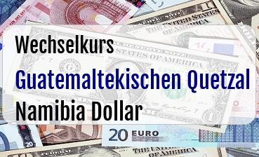 Guatemaltekischen Quetzal in Namibia Dollar