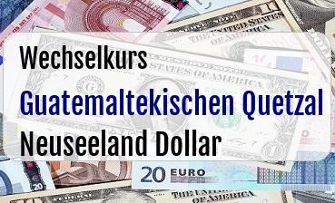 Guatemaltekischen Quetzal in Neuseeland Dollar