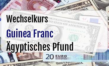 Guinea Franc in Ägyptisches Pfund