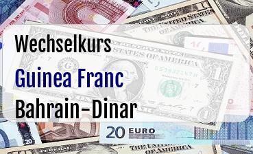 Guinea Franc in Bahrain-Dinar