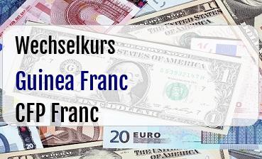 Guinea Franc in CFP Franc