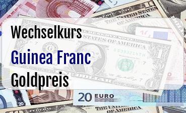 Guinea Franc in Goldpreis