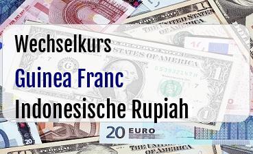 Guinea Franc in Indonesische Rupiah