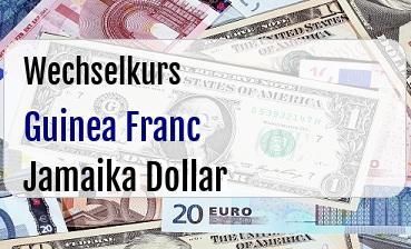 Guinea Franc in Jamaika Dollar