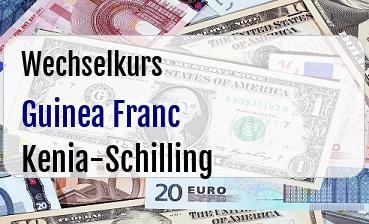 Guinea Franc in Kenia-Schilling