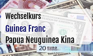 Guinea Franc in Papua Neuguinea Kina
