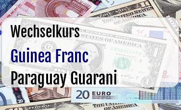 Guinea Franc in Paraguay Guarani