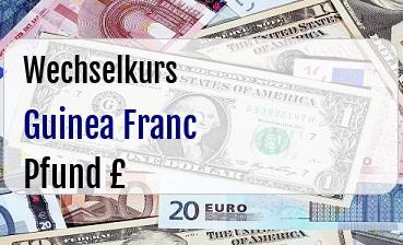 Guinea Franc in Britische Pfund