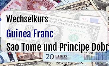 Guinea Franc in Sao Tome und Principe Dobra