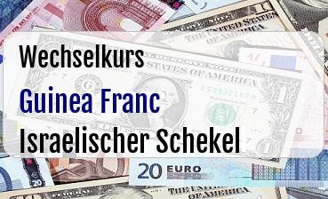 Guinea Franc in Israelischer Schekel
