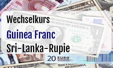 Guinea Franc in Sri-Lanka-Rupie