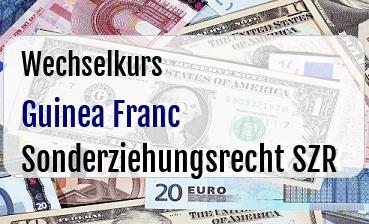 Guinea Franc in Sonderziehungsrecht SZR