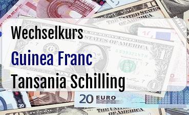 Guinea Franc in Tansania Schilling