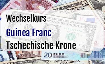 Guinea Franc in Tschechische Krone