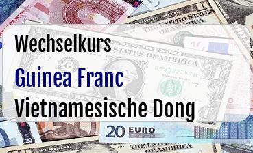 Guinea Franc in Vietnamesische Dong