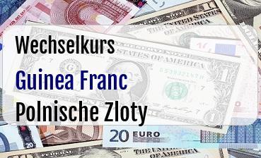 Guinea Franc in Polnische Zloty