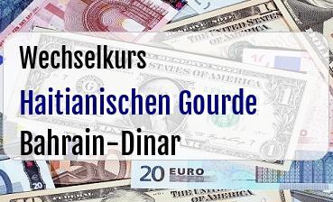 Haitianischen Gourde in Bahrain-Dinar