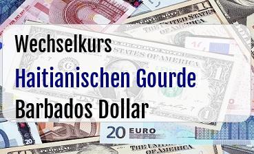 Haitianischen Gourde in Barbados Dollar