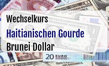 Haitianischen Gourde in Brunei Dollar