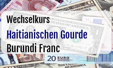 Haitianischen Gourde in Burundi Franc