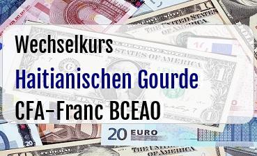 Haitianischen Gourde in CFA-Franc BCEAO