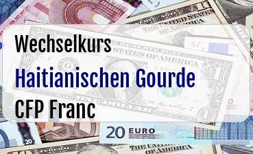Haitianischen Gourde in CFP Franc