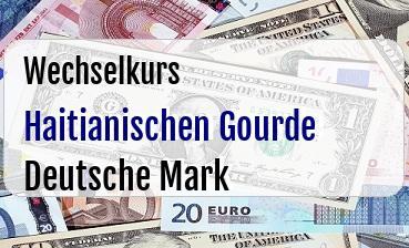Haitianischen Gourde in Deutsche Mark