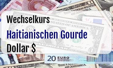 Haitianischen Gourde in US Dollar