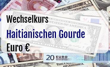 Haitianischen Gourde in Euro