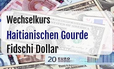 Haitianischen Gourde in Fidschi Dollar