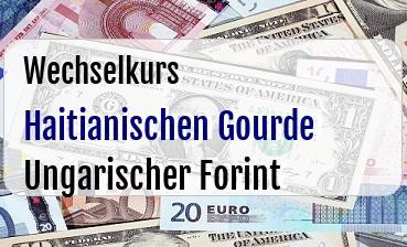 Haitianischen Gourde in Ungarischer Forint