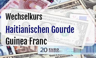 Haitianischen Gourde in Guinea Franc