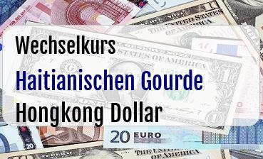 Haitianischen Gourde in Hongkong Dollar