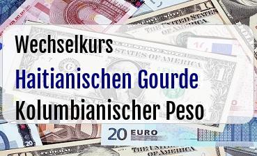 Haitianischen Gourde in Kolumbianischer Peso