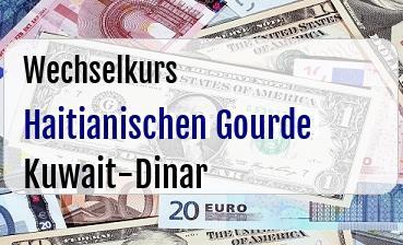 Haitianischen Gourde in Kuwait-Dinar