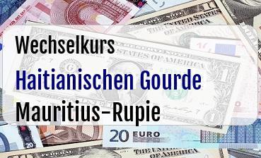 Haitianischen Gourde in Mauritius-Rupie