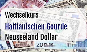 Haitianischen Gourde in Neuseeland Dollar