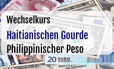Haitianischen Gourde in Philippinischer Peso