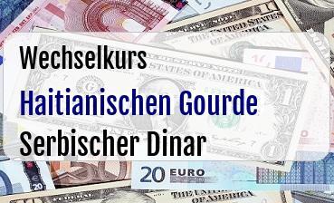 Haitianischen Gourde in Serbischer Dinar